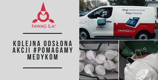 Fawag S.A. wspiera Lekarzy  i Pielęgniarki ze  Szpitala Tymczasowego w  Lublinie.