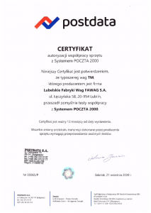 Certyfikat Postdata waga TM-1.png