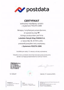Certyfikat Postdata waga TP-1.png
